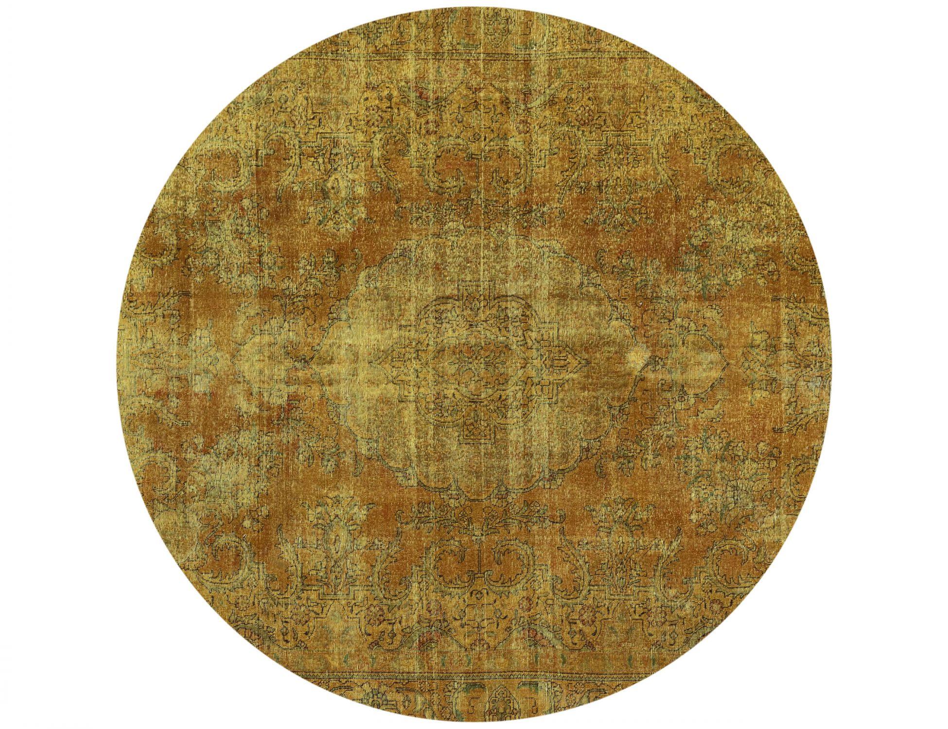 Tappeto Vintage  giallo <br/>255 x 255 cm