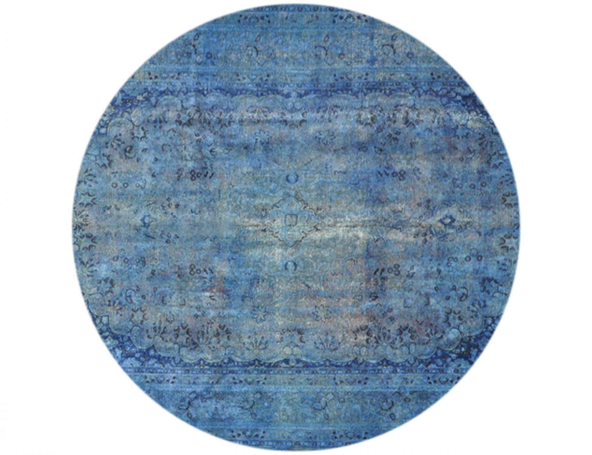 Tappeto Vintage  blu <br/>290 x 290 cm