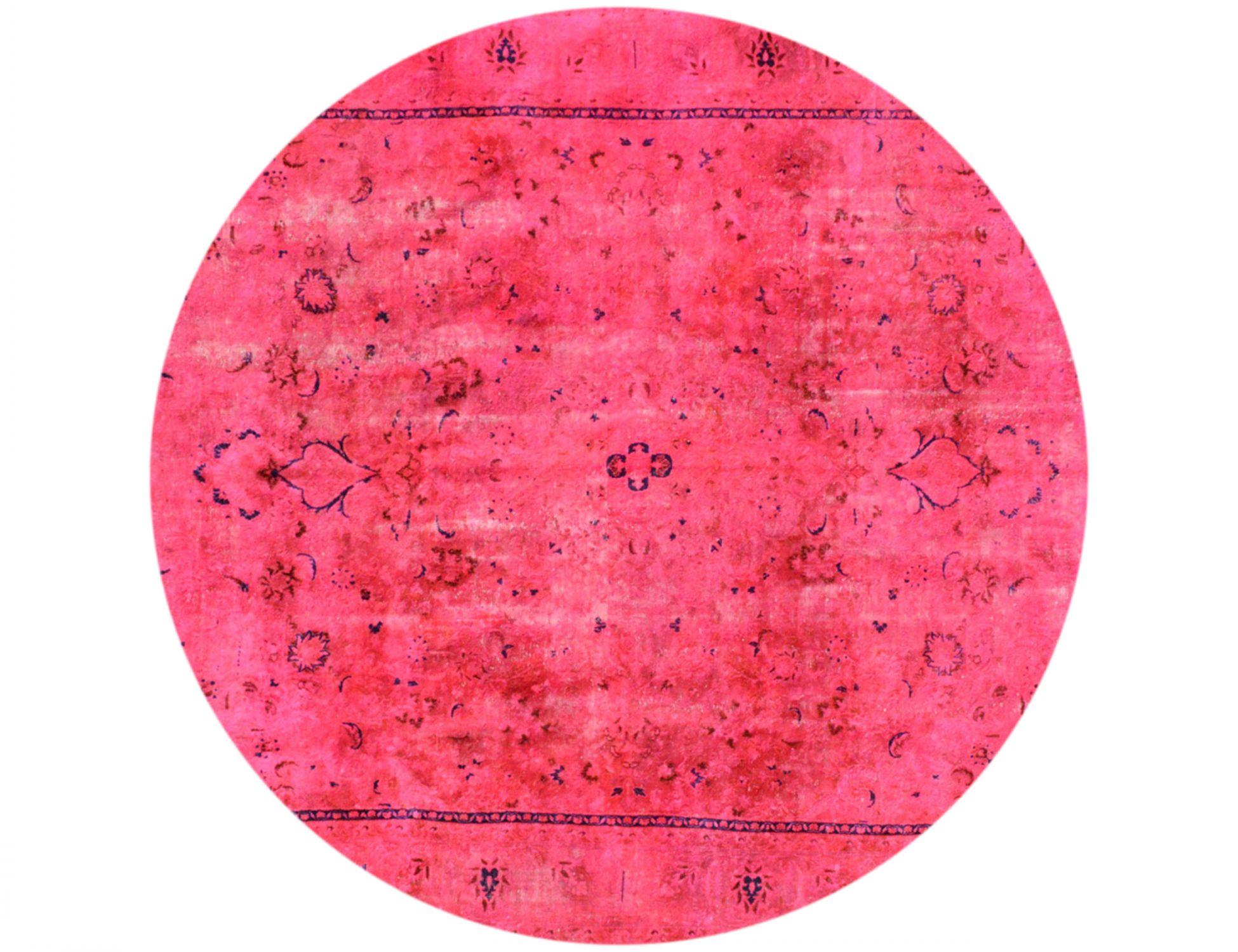 Vintage Teppich rund  lila <br/>276 x 276 cm