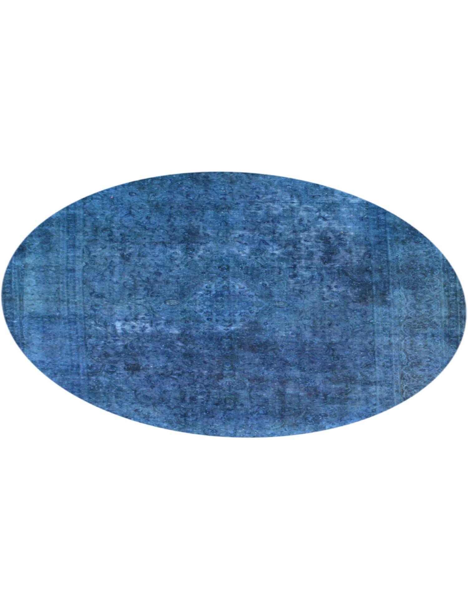 Vintage Teppich rund  blau <br/>296 x 296 cm