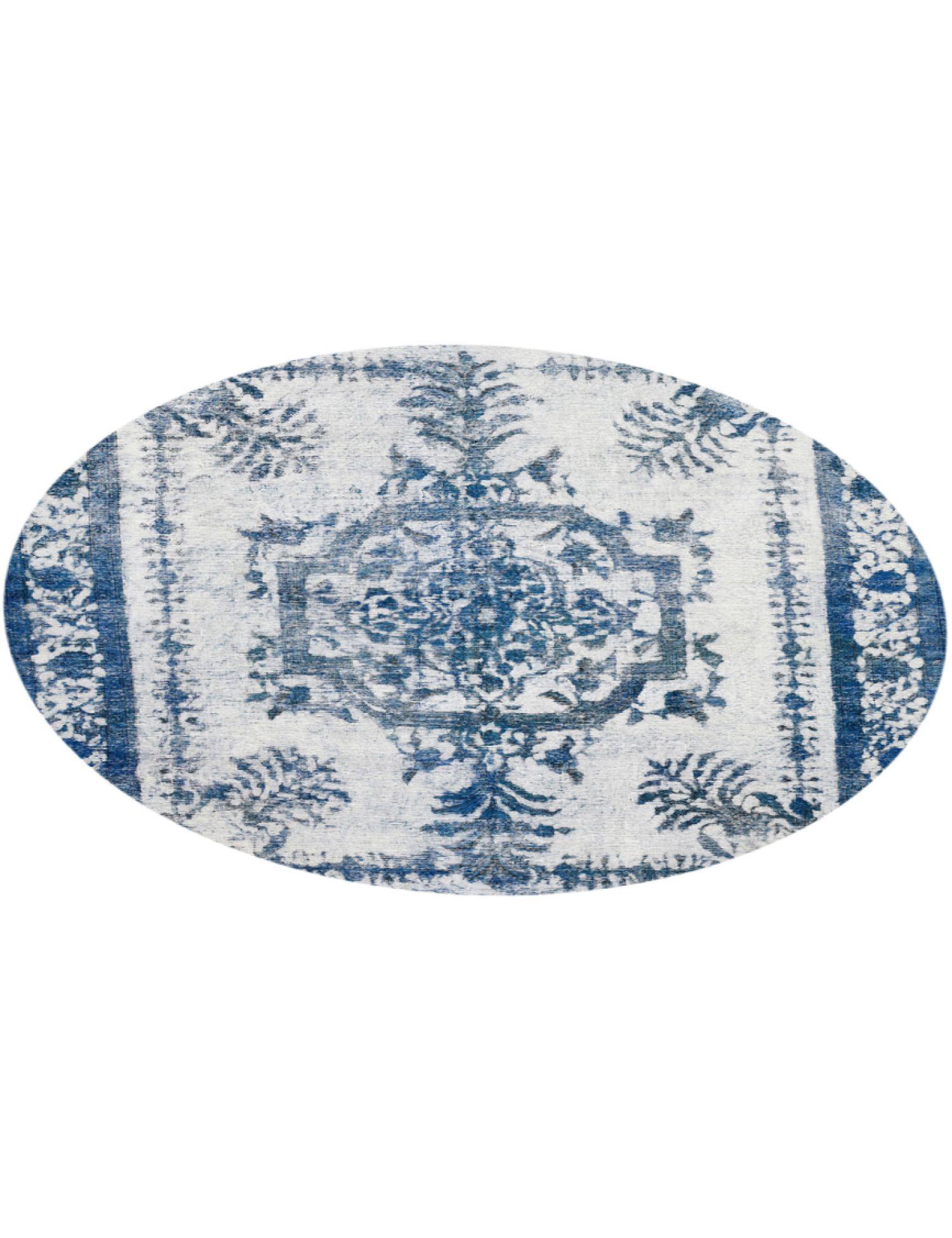 Vintage Teppich rund  blau <br/>302 x 302 cm