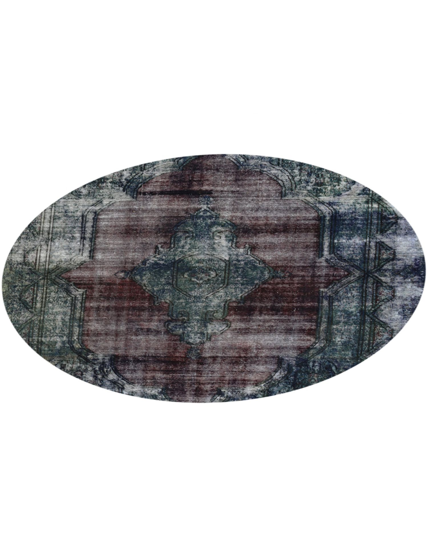 Vintage Teppich rund  grün <br/>274 x 274 cm