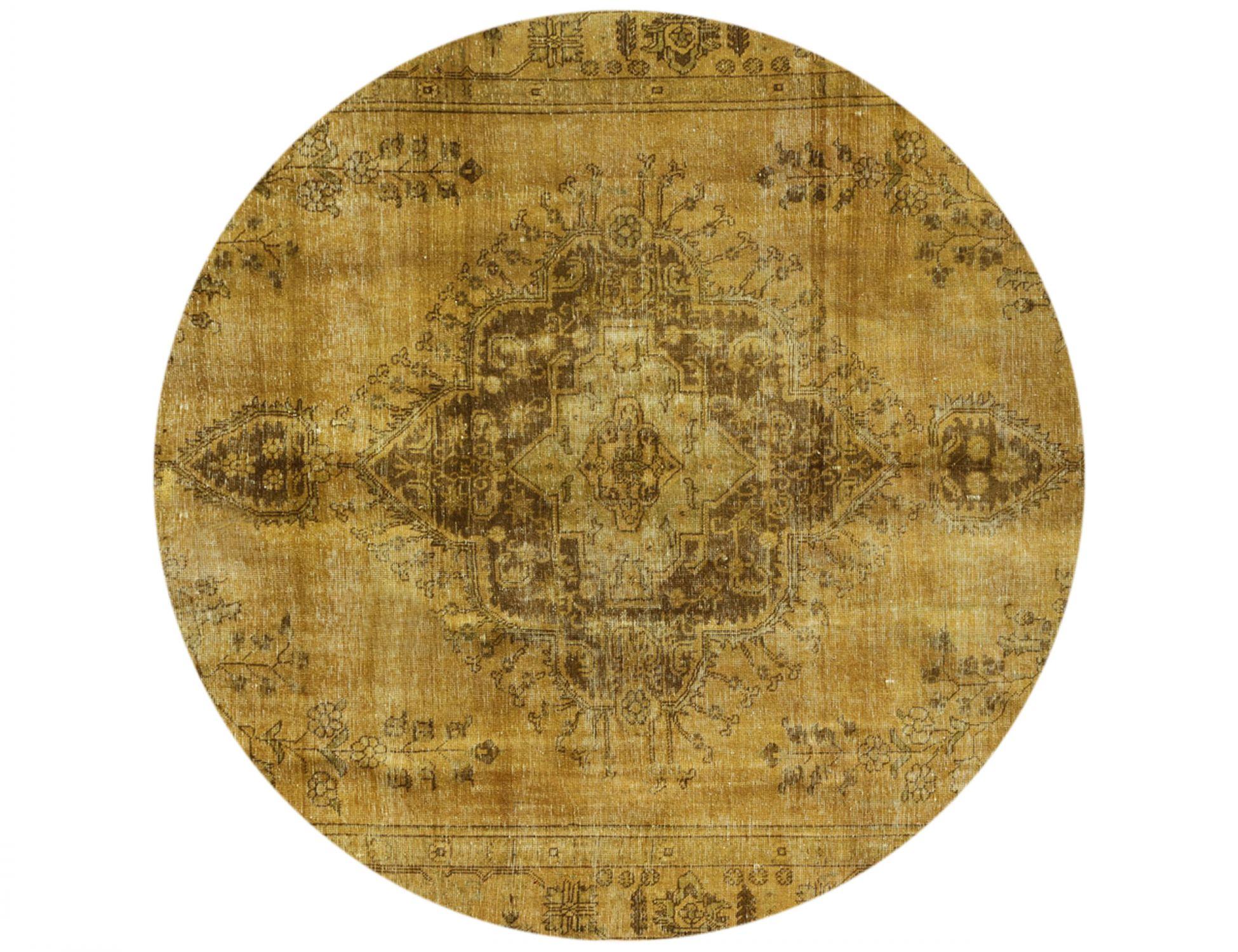 Tappeto Vintage  giallo <br/>257 x 257 cm