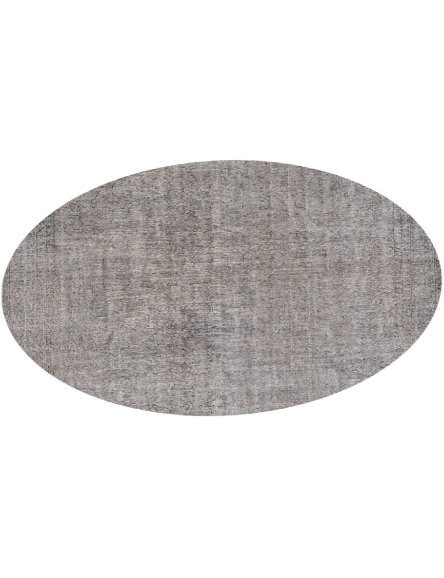 Vintage Teppich rund  grau <br/>217 x 217 cm