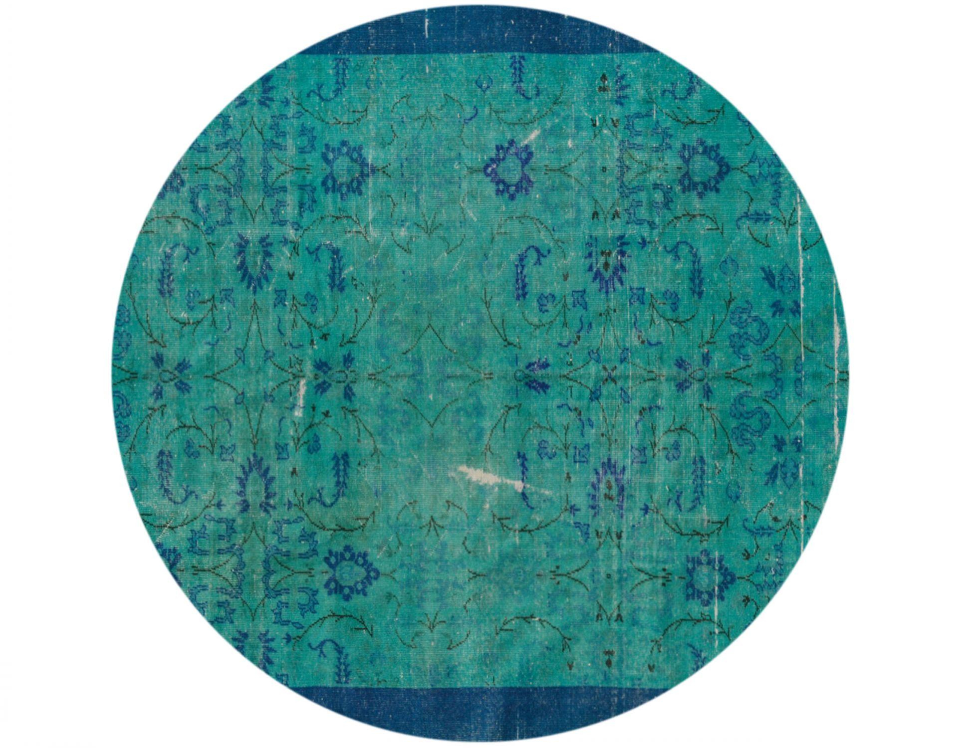 Vintage Teppich rund  grün <br/>217 x 217 cm