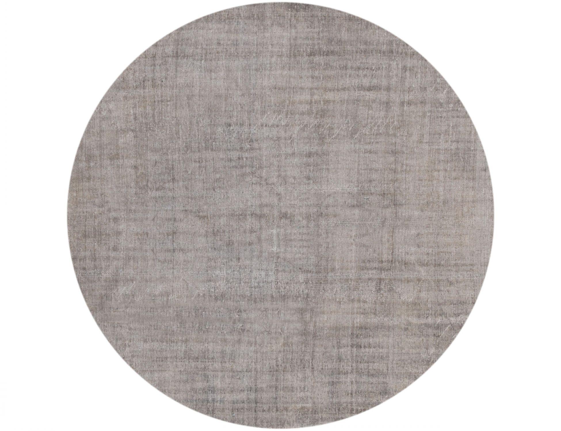 Vintage Teppich rund  grau <br/>226 x 226 cm