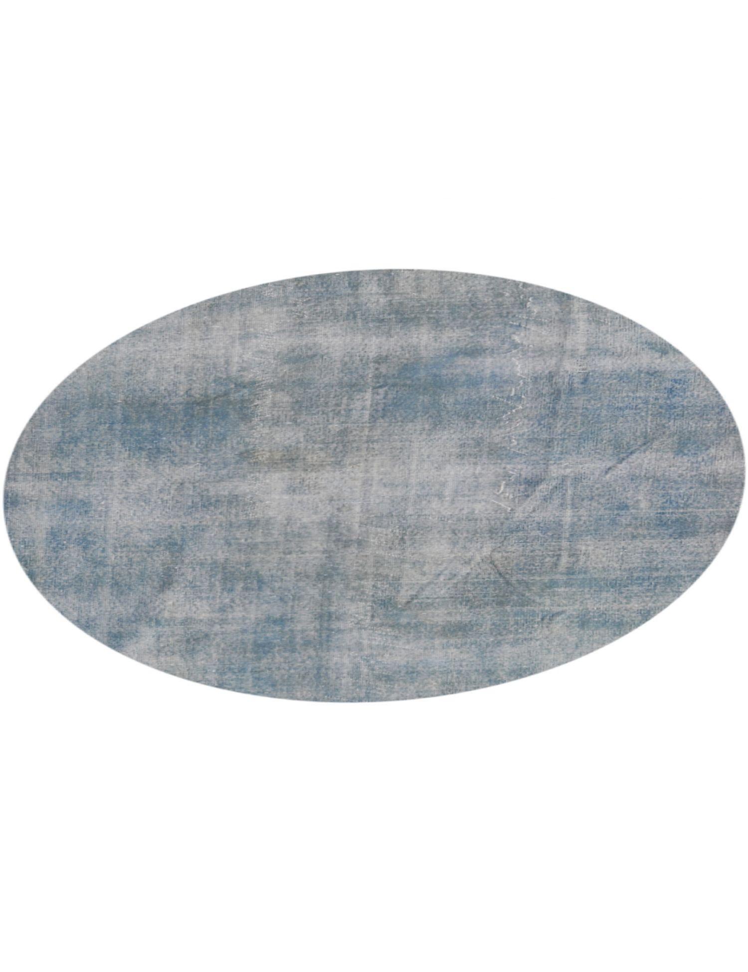 Vintage Teppich rund  blau <br/>216 x 216 cm