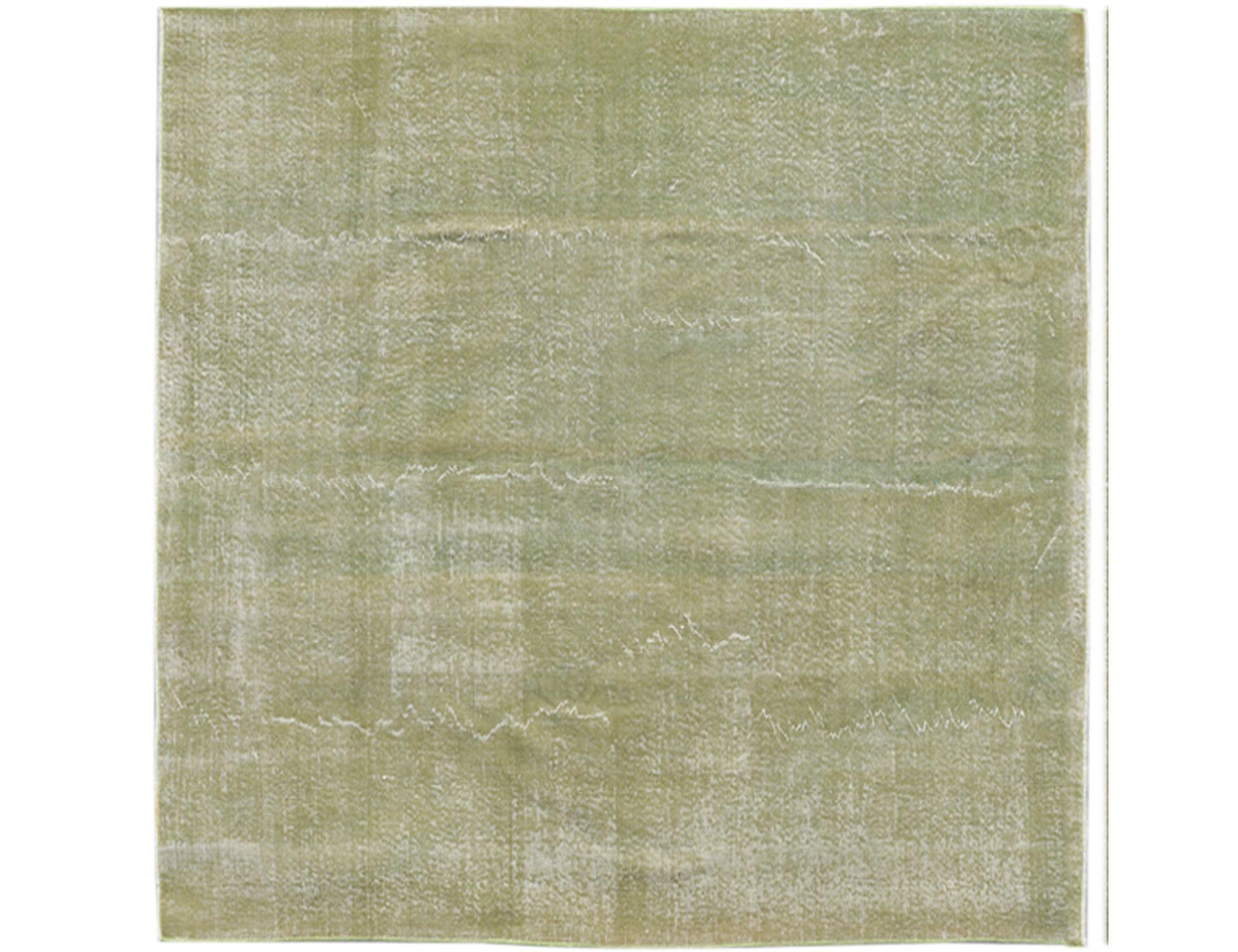 Vintage Teppich  grün <br/>204 x 204 cm