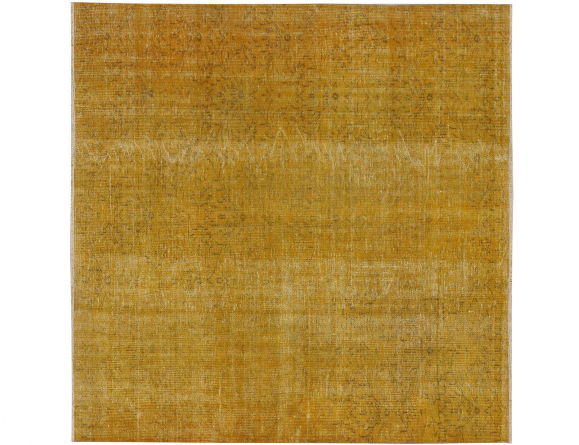 Vintage Teppich  gelb <br/>189 x 189 cm