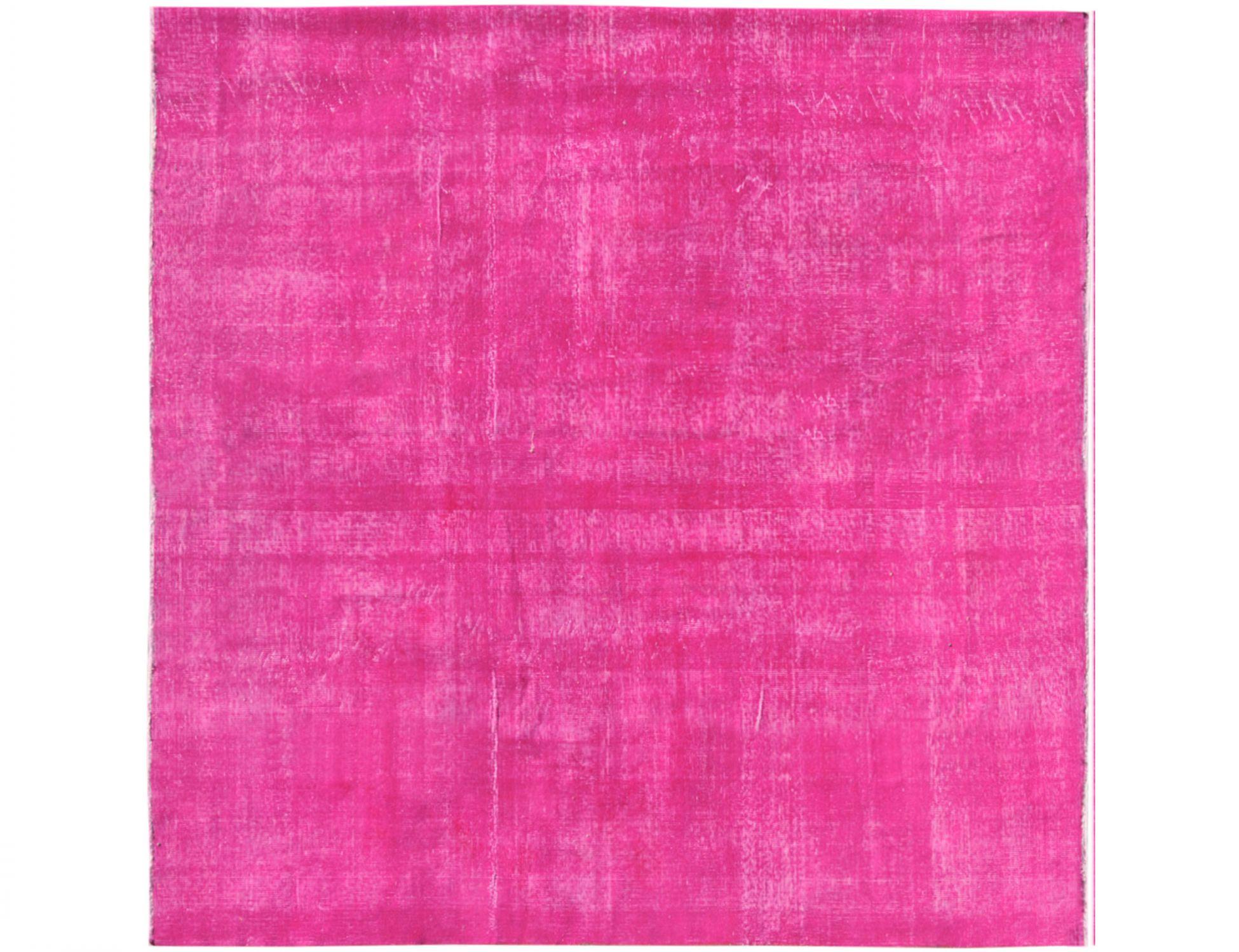Vintage Teppich rund  rosa <br/>232 x 232 cm