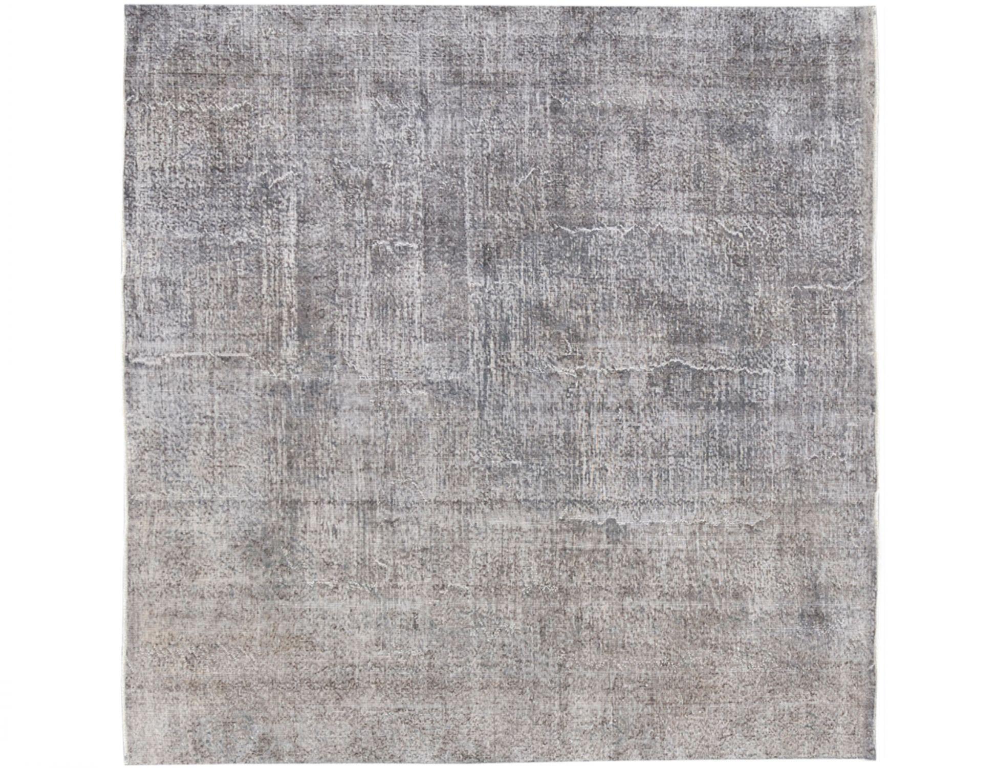 Vintage Teppich rund  grau <br/>260 x 260 cm
