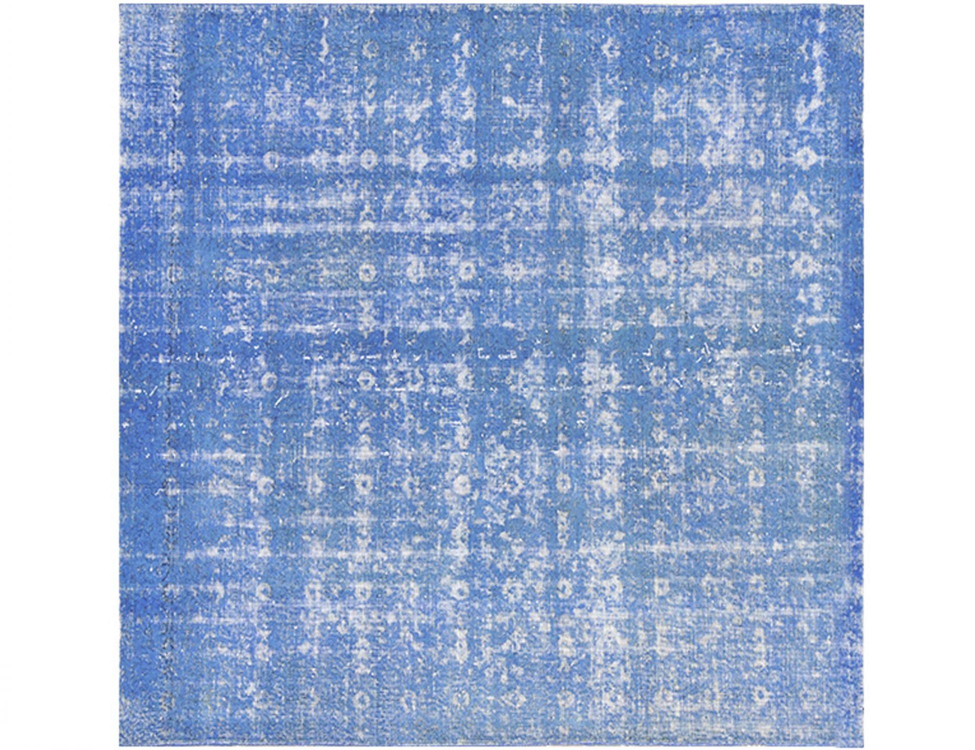 Vintage Teppich  blau <br/>200 x 200 cm