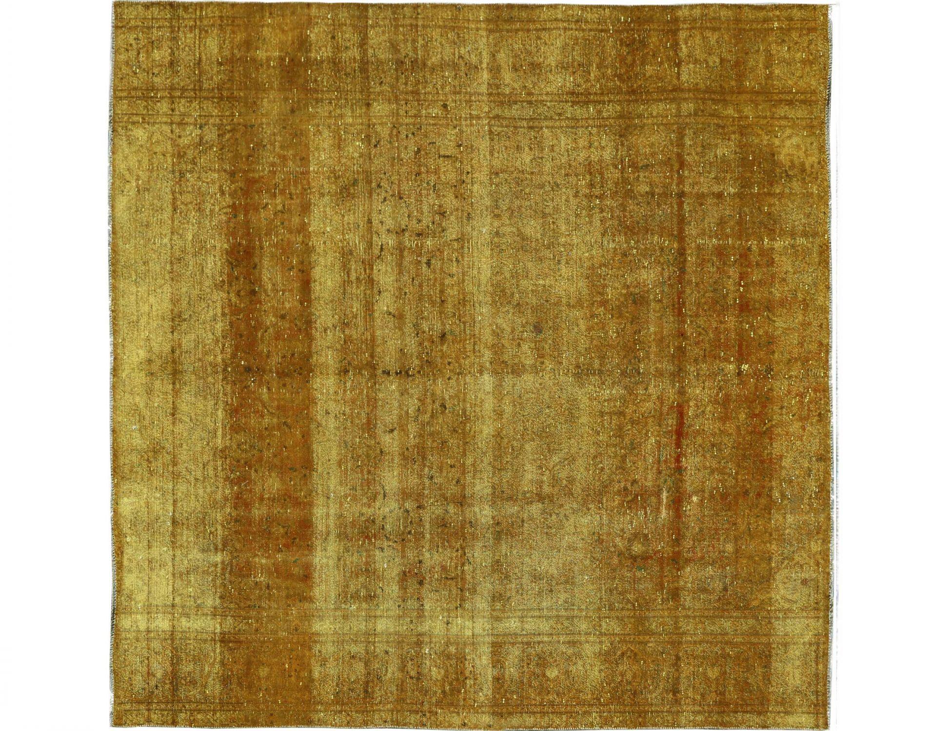 Vintage Teppich  gelb <br/>271 x 271 cm