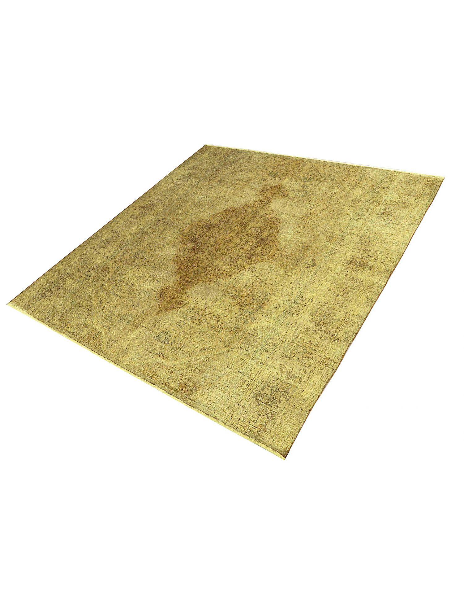 Vintage Teppich  gelb <br/>287 x 287 cm