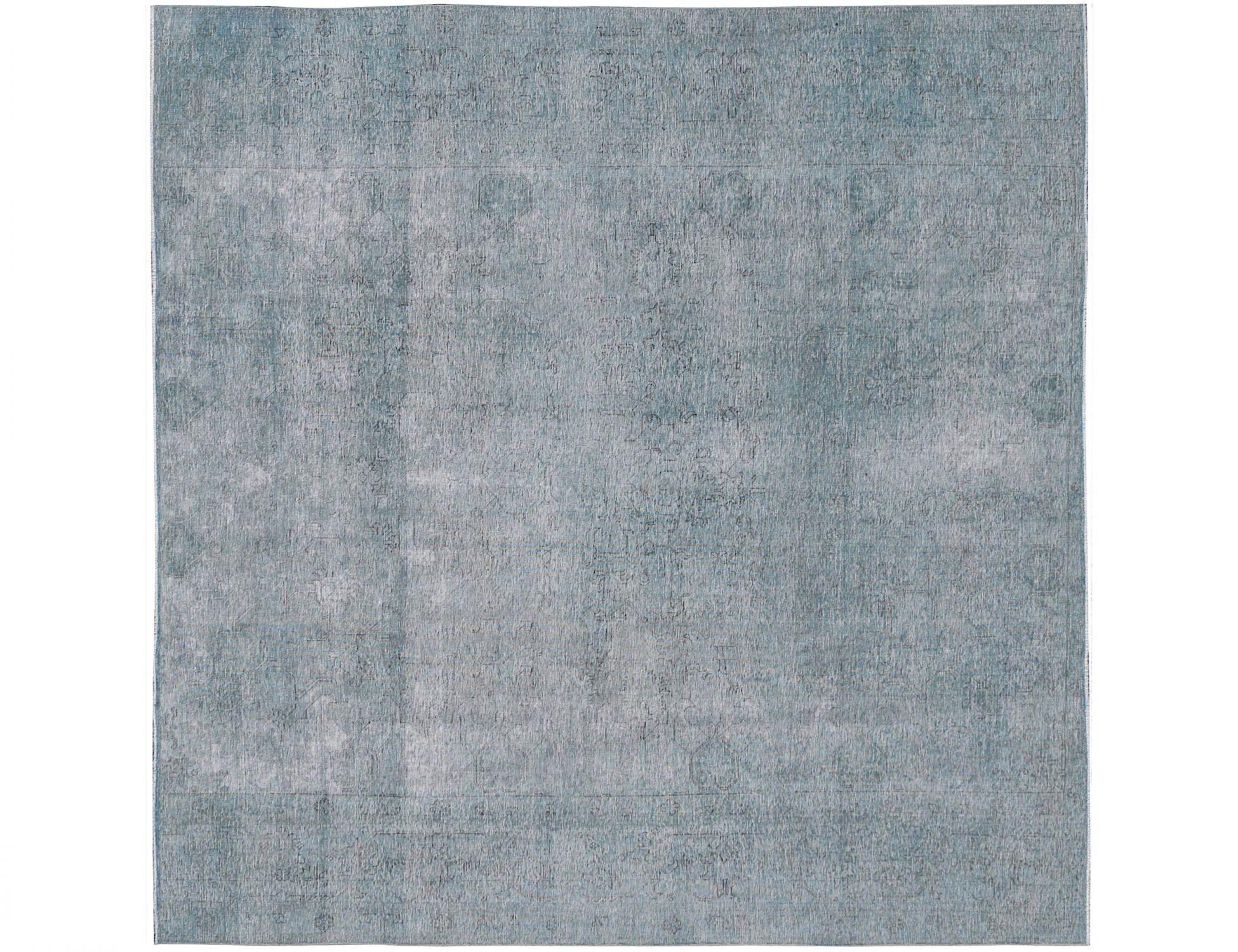 orientteppich vintage  blau <br/>295 x 295 cm