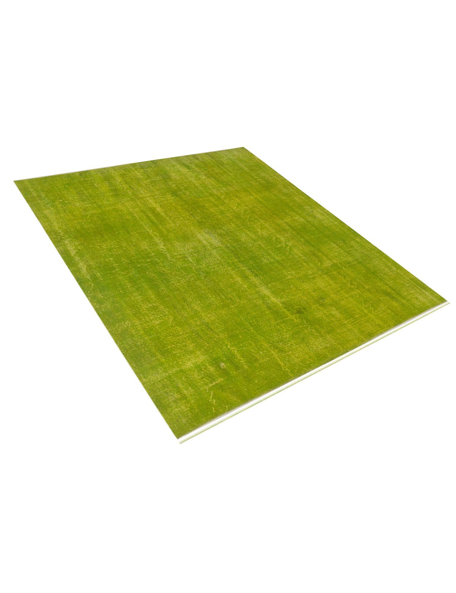 Vintage Teppich rund  grün <br/>225 x 225 cm