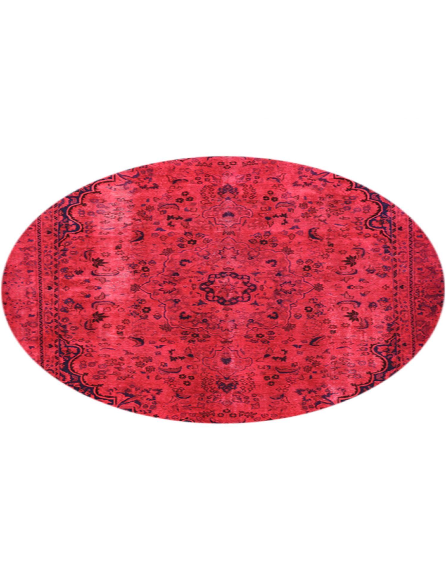 Vintage Teppich rund  rot <br/>258 x 258 cm