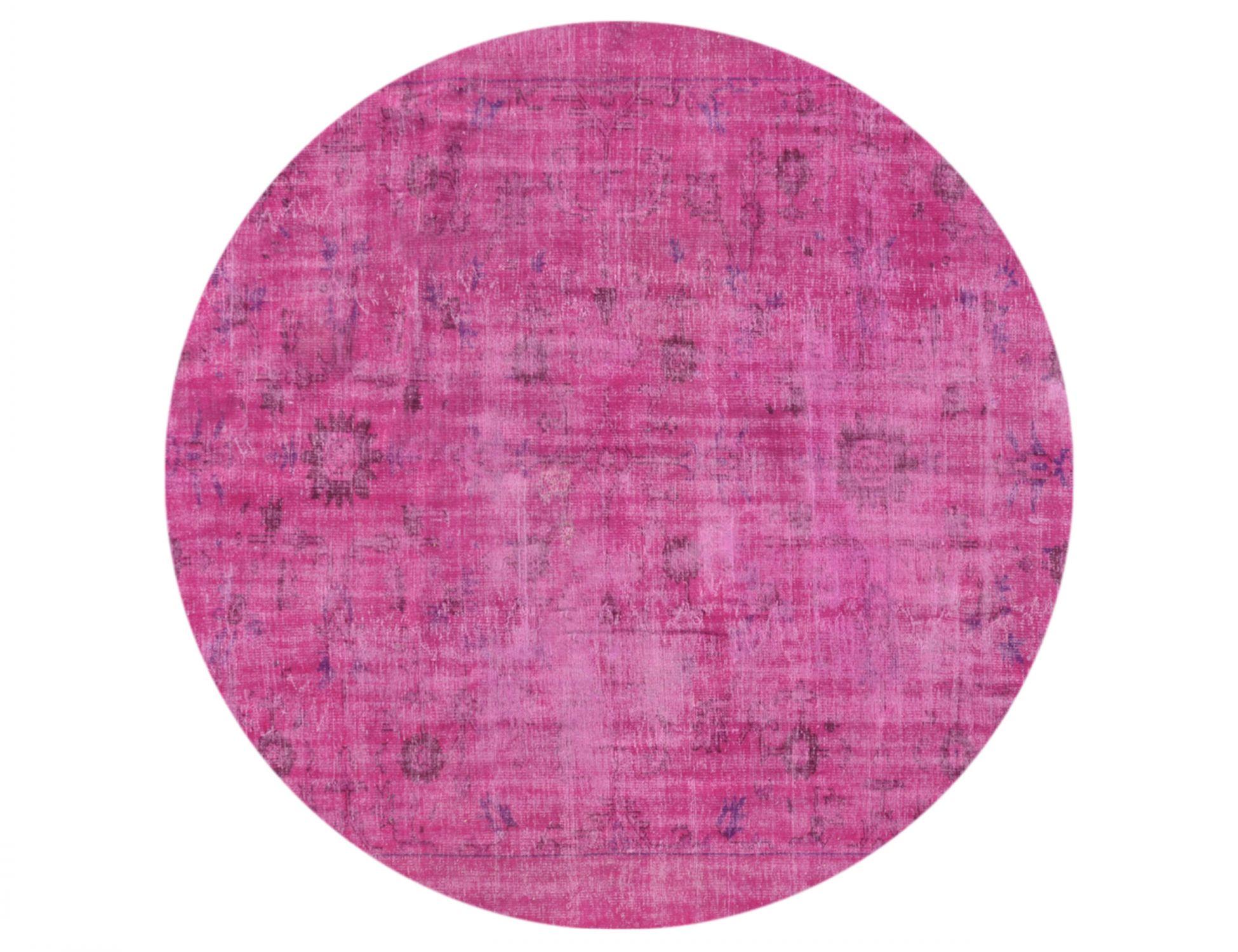 Vintage Teppich rund  rosa <br/>252 x 252 cm