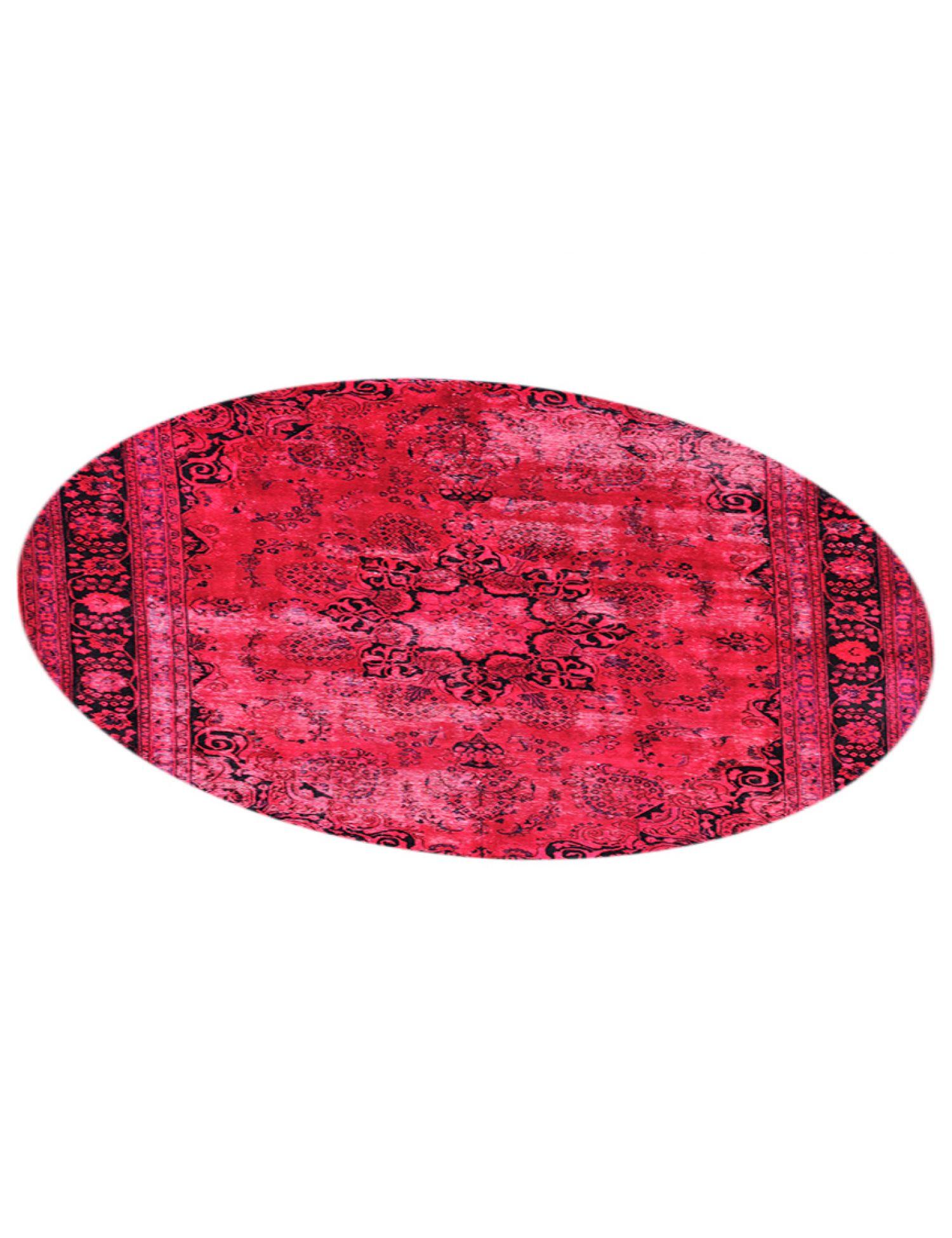 Vintage Teppich rund  rot <br/>290 x 290 cm