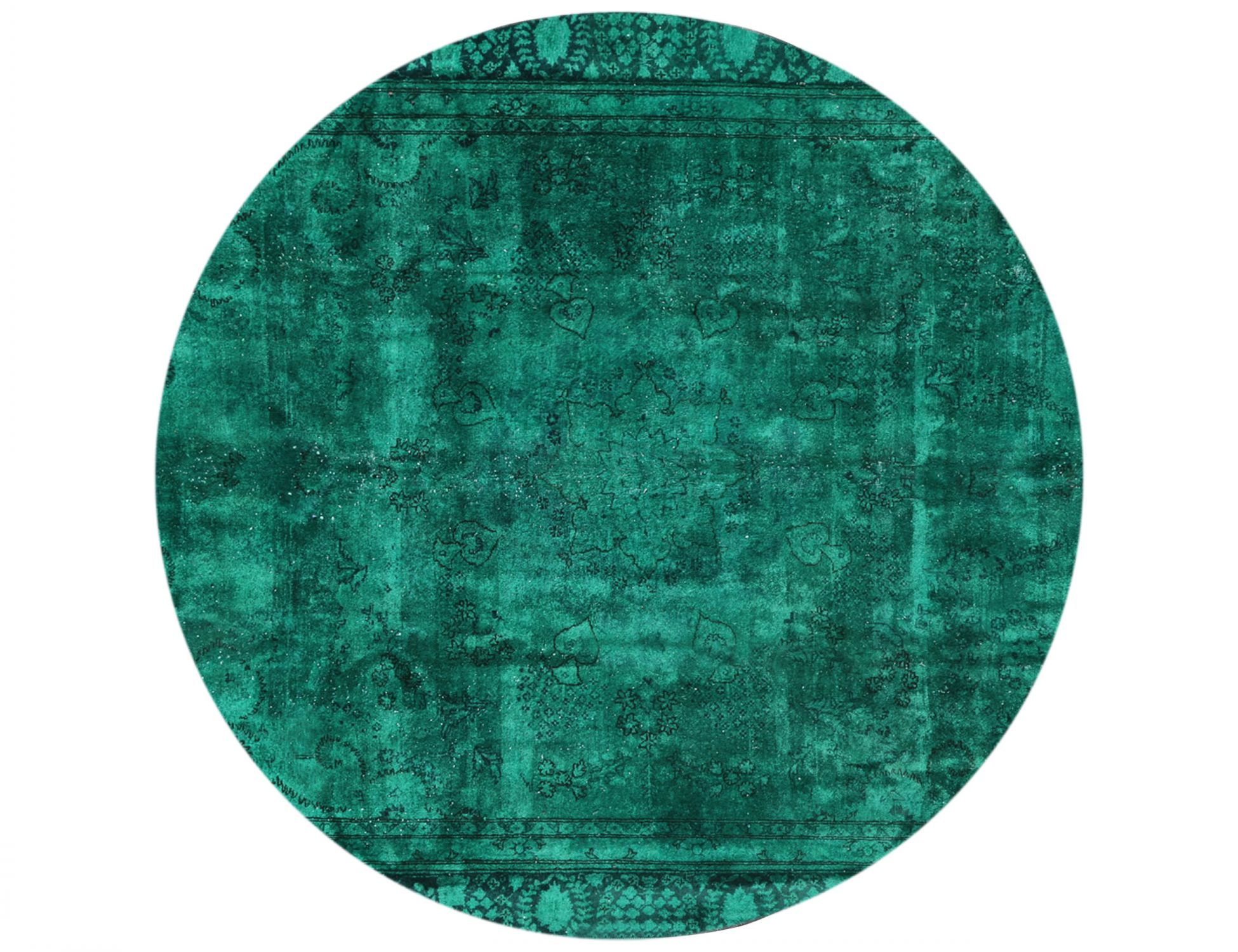 Tappeto Vintage  verde <br/>258 x 258 cm