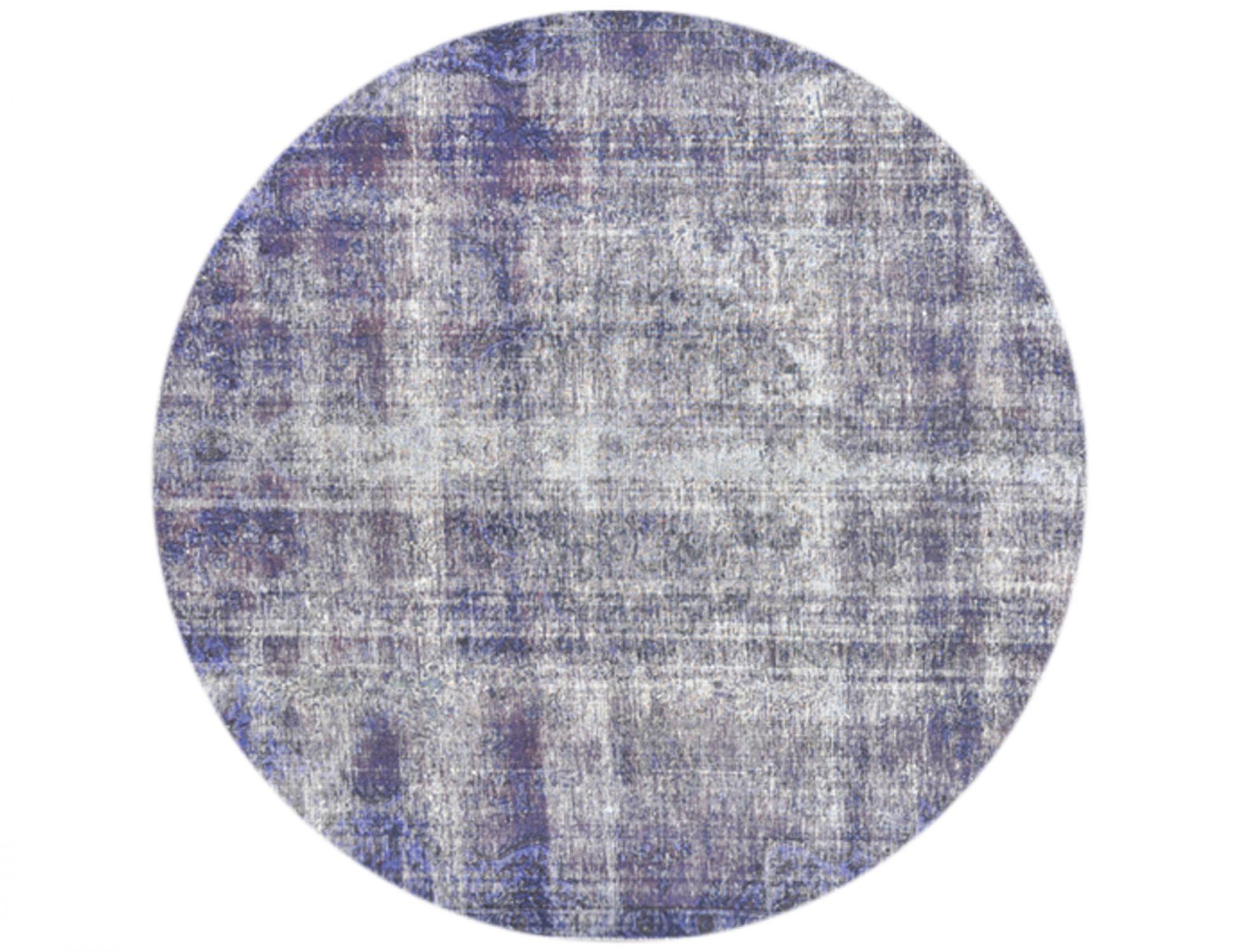 Vintage Teppich rund  blau <br/>258 x 258 cm