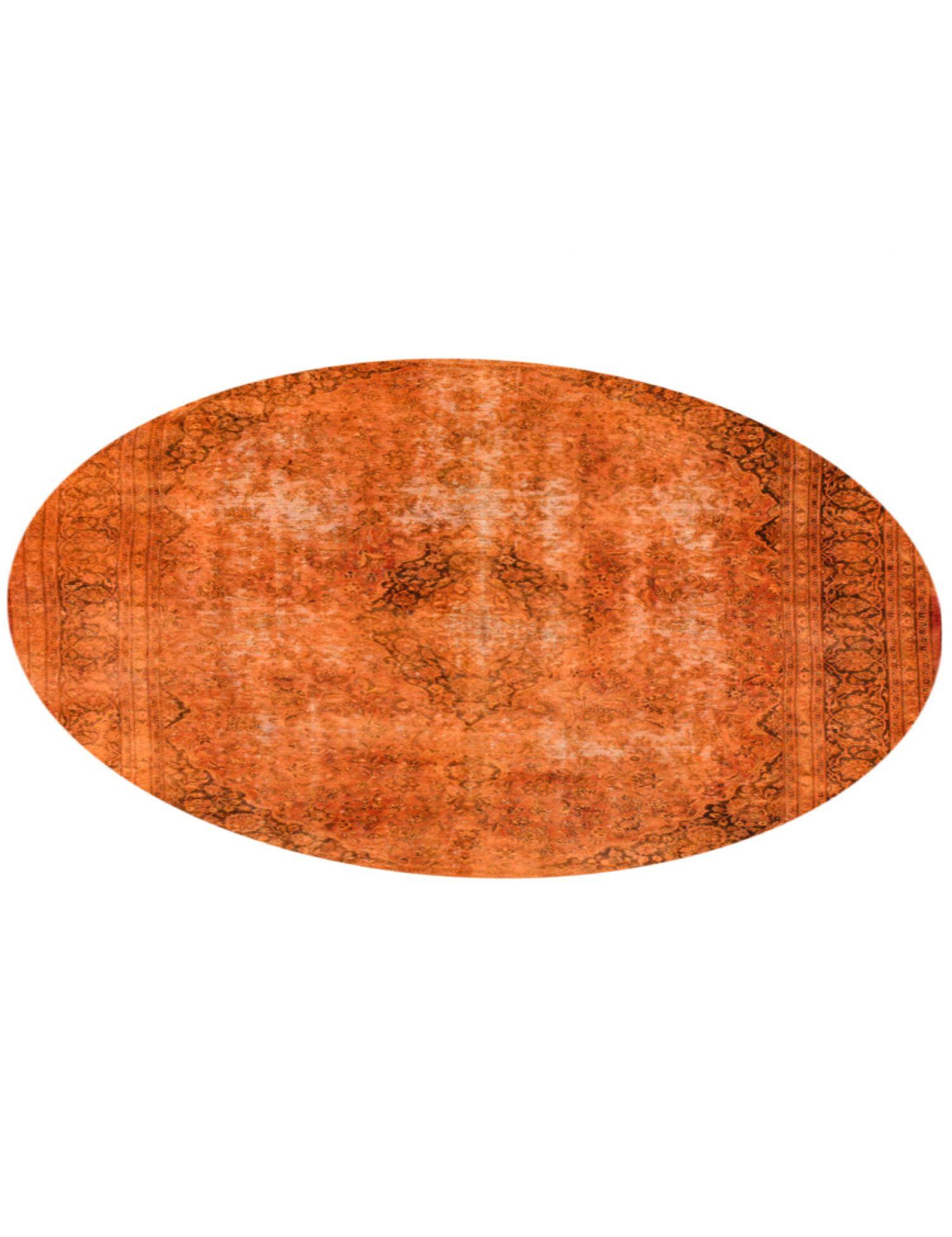Vintage Teppich rund  orange <br/>290 x 290 cm