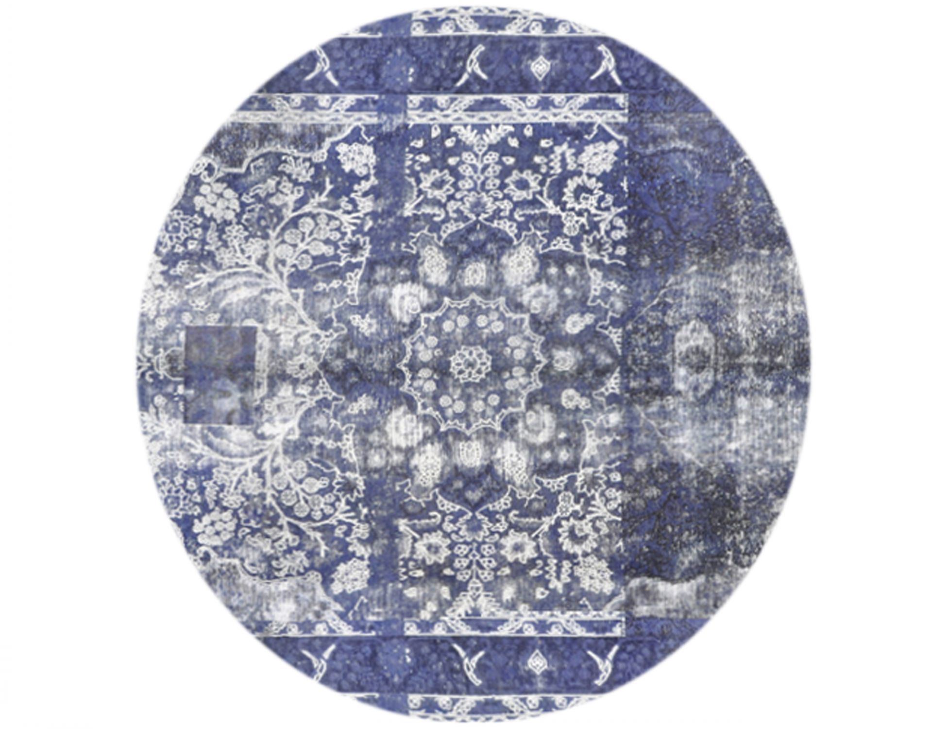 Vintage Teppich rund  blau <br/>250 x 250 cm