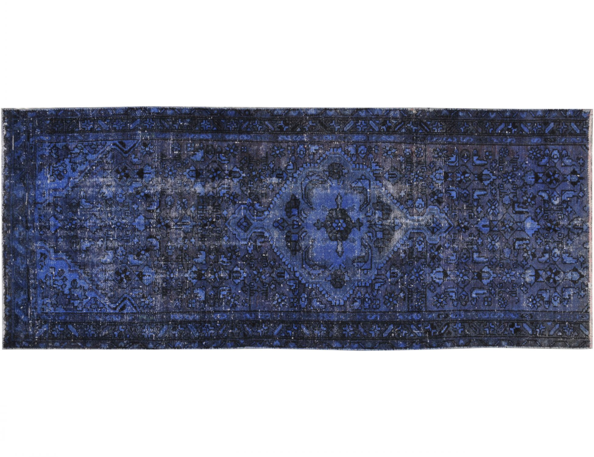 Tappeto Vintage  blu <br/>237 x 86 cm