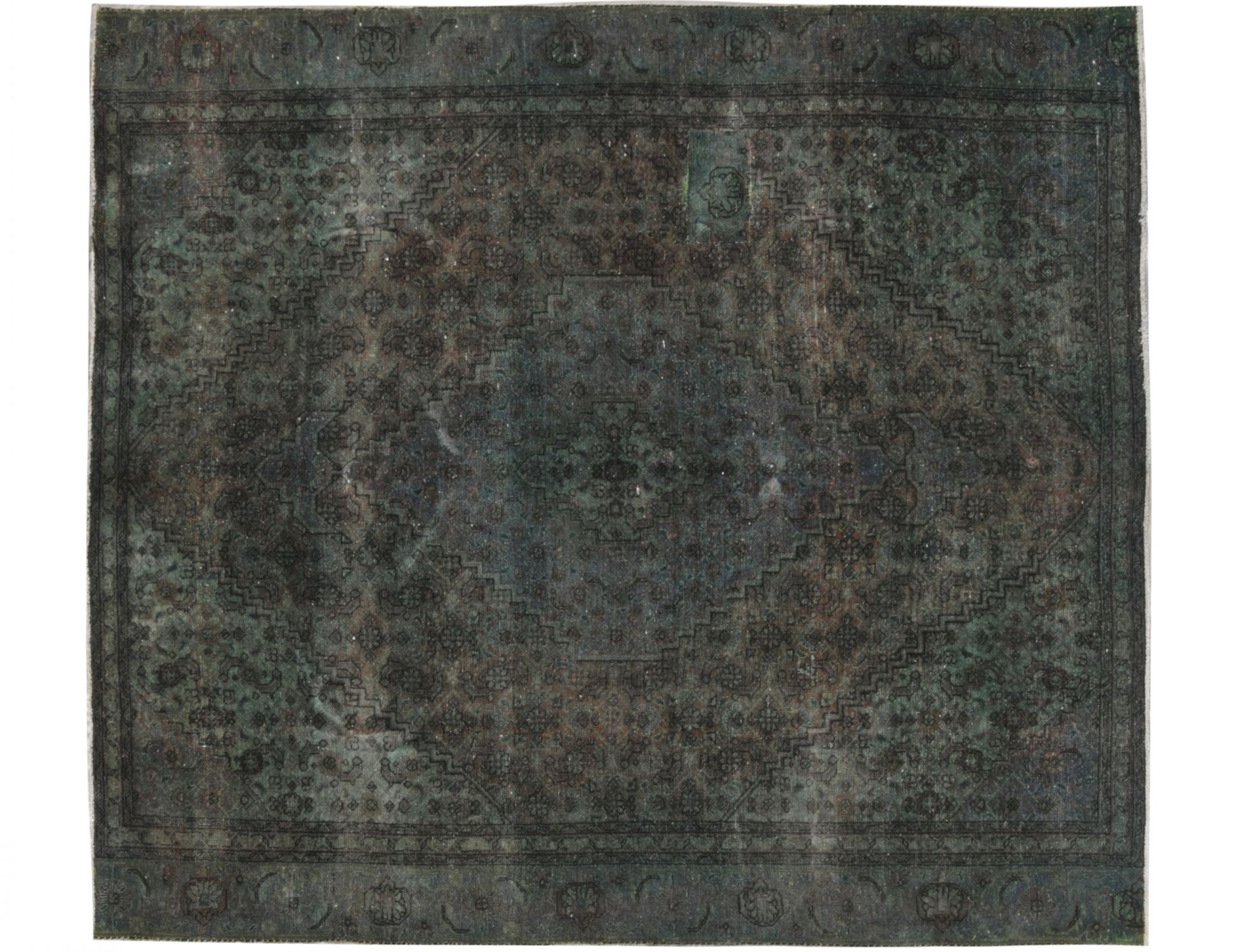 Vintage Teppich  grün <br/>270 x 230 cm
