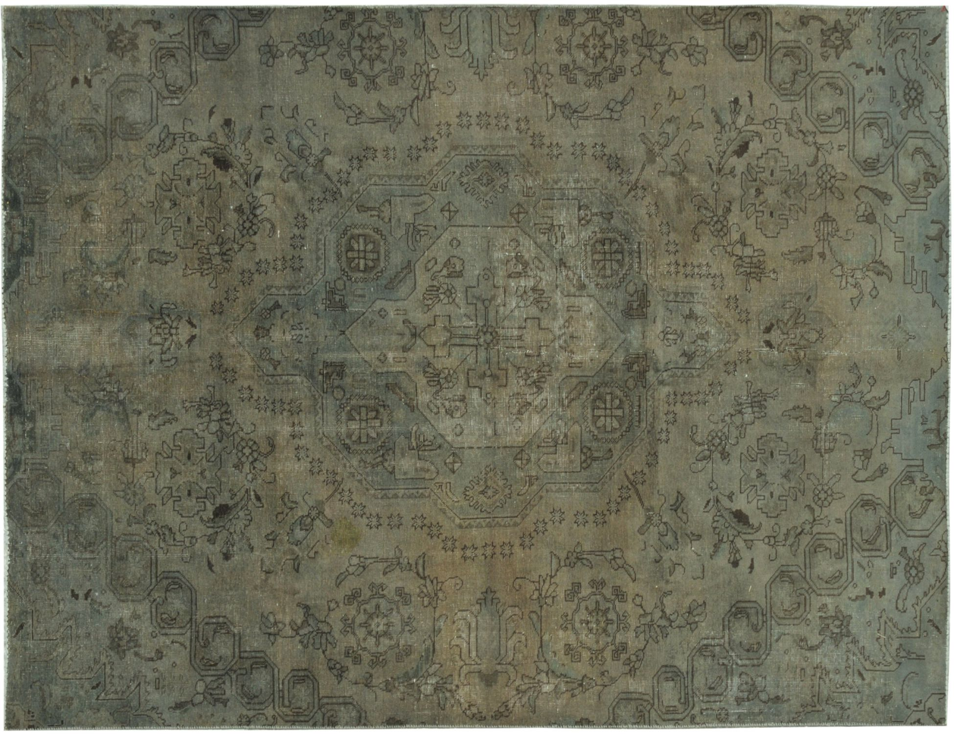 Vintage Teppich  grün <br/>298 x 195 cm