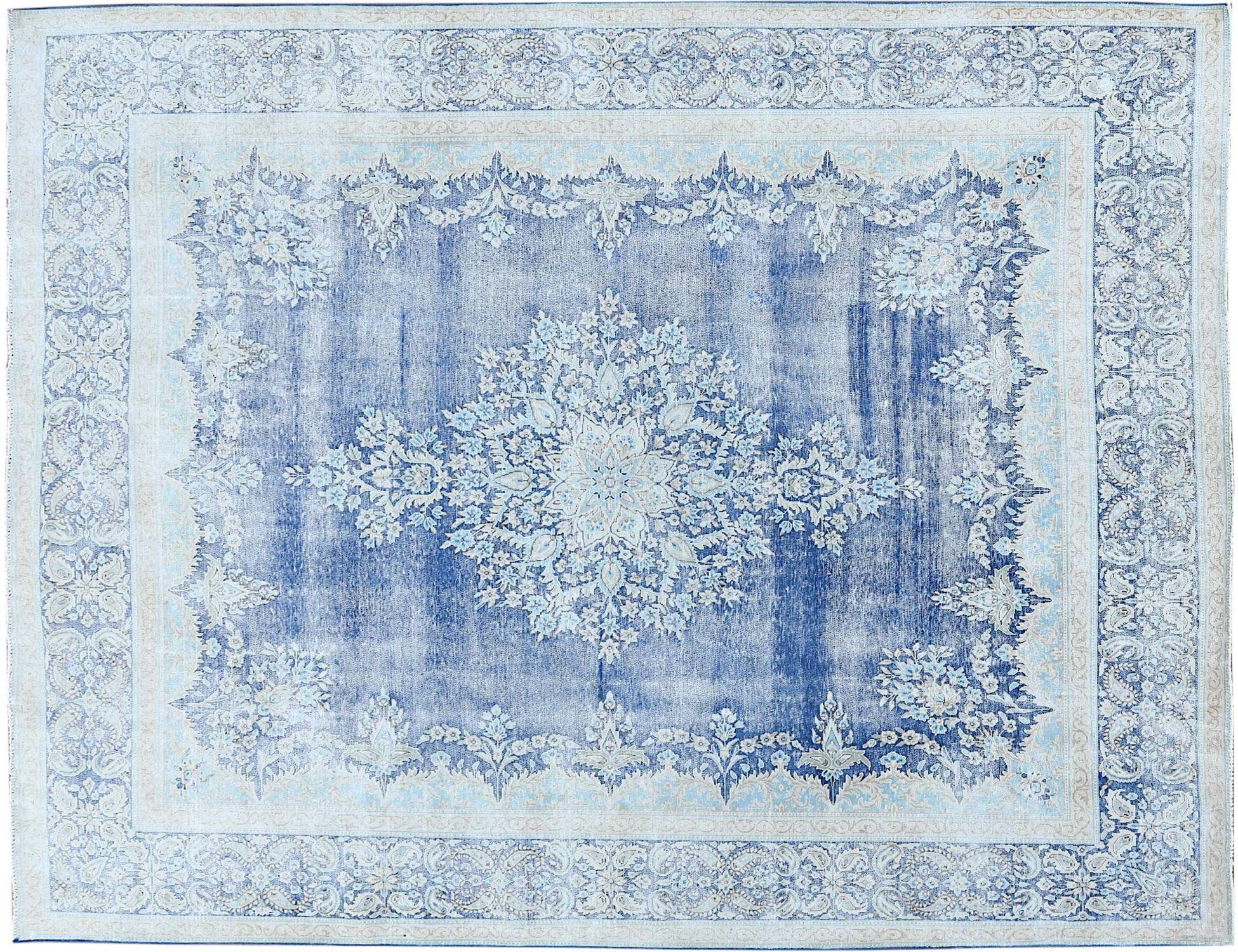 Retro Perserteppich  blau <br/>387 x 291 cm