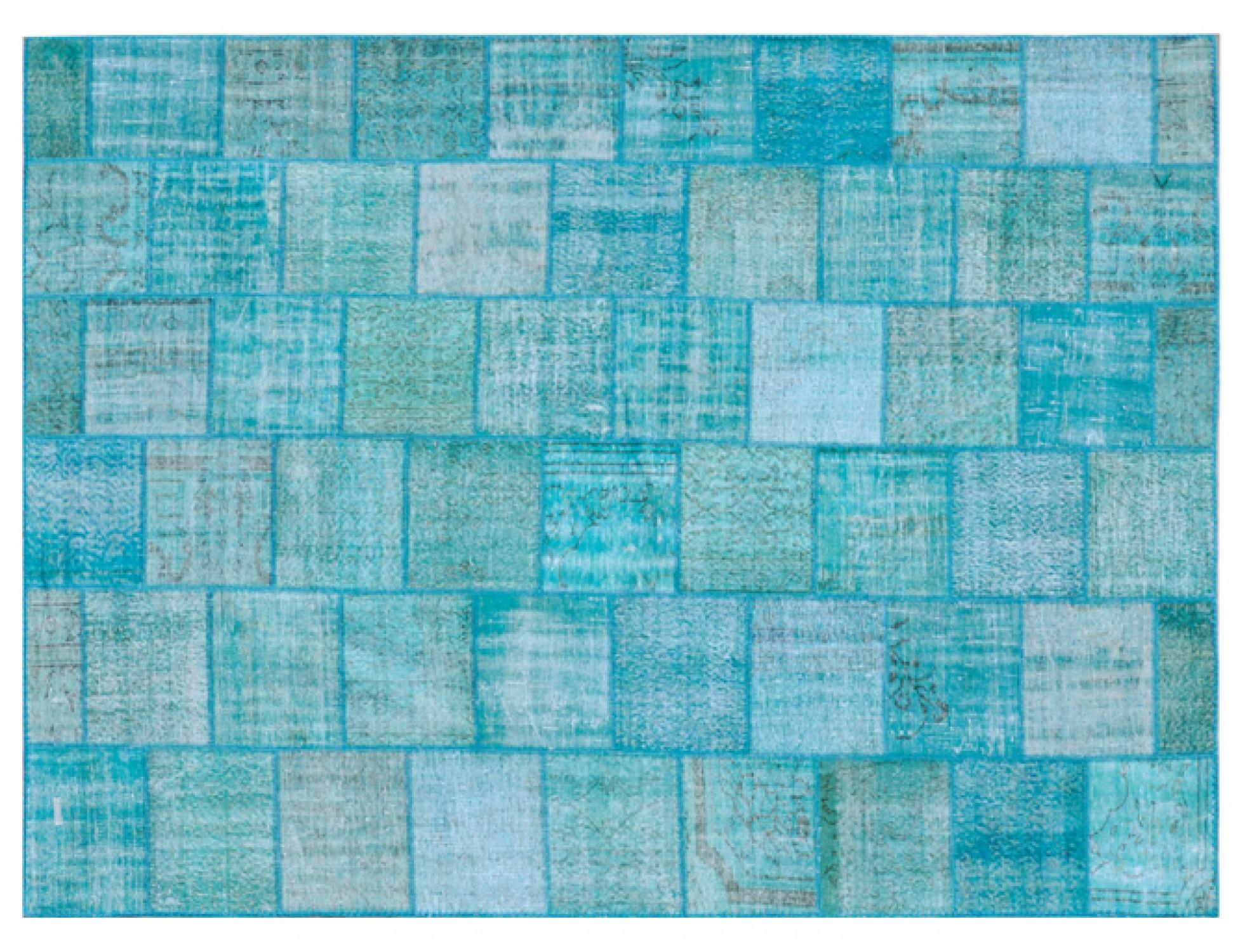 Tappeto Patchwork  blu <br/>352 x 255 cm