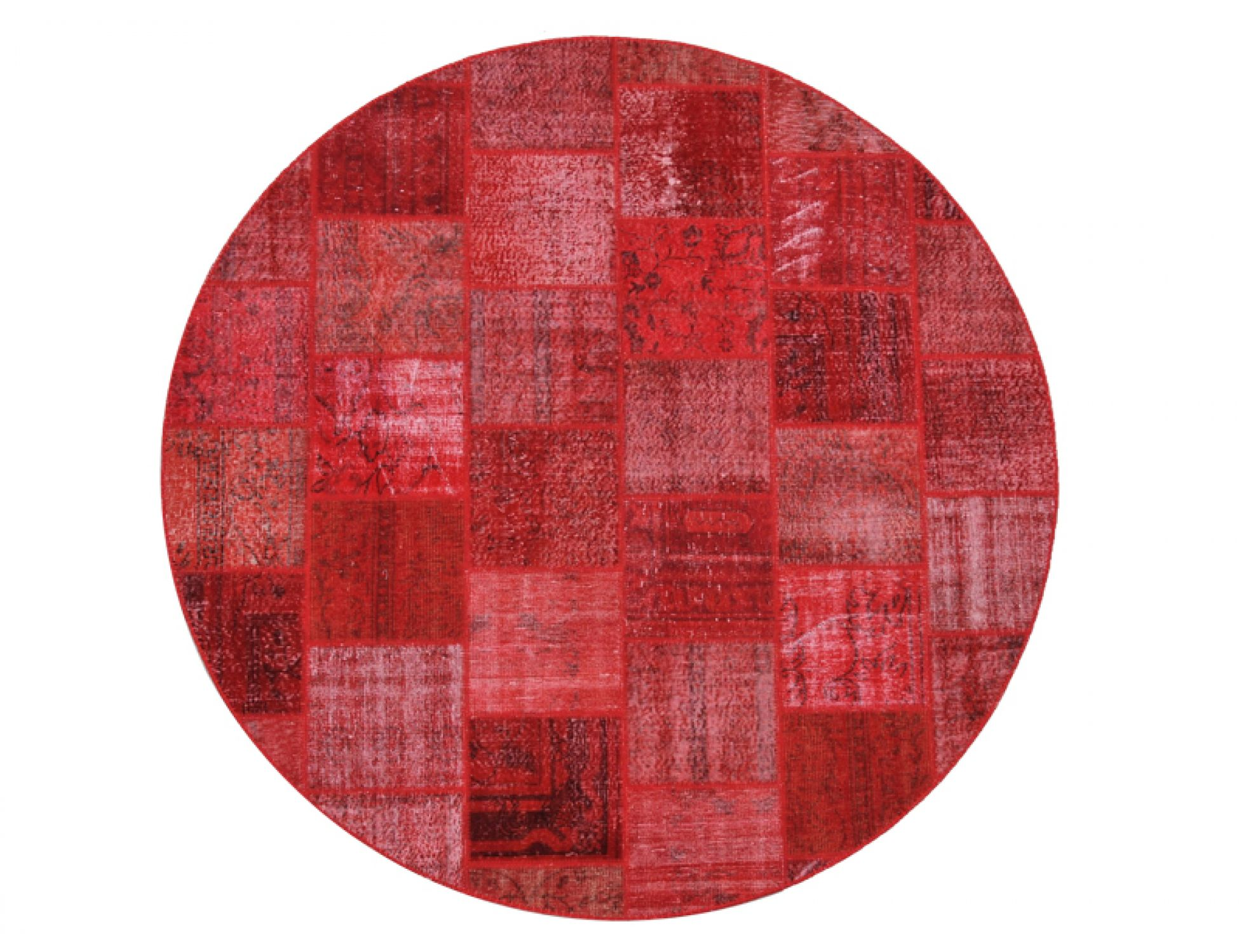 Tappeto Patchwork  rosso <br/>250 x 250 cm