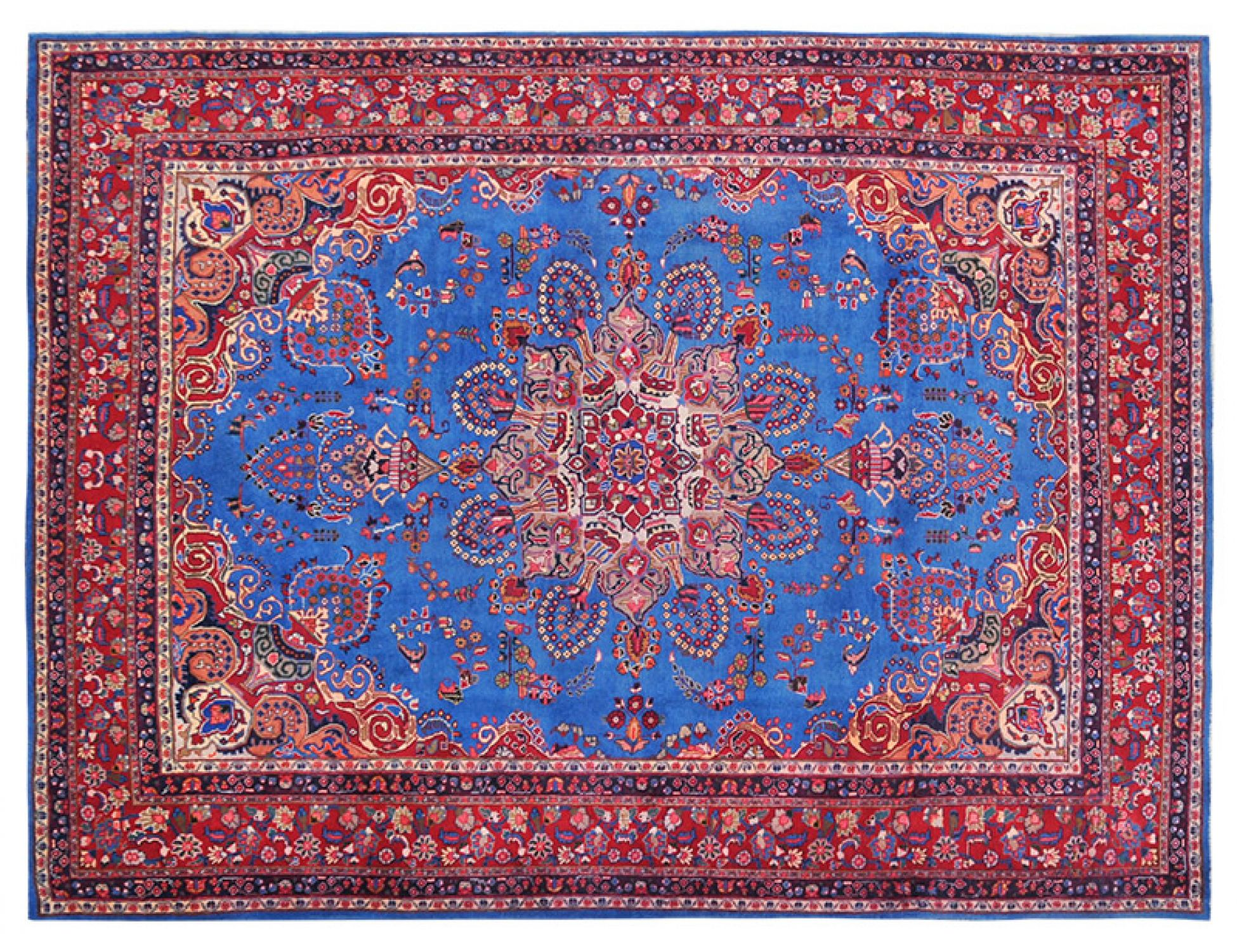 Tappeto Vintage  blu <br/>373 x 295 cm