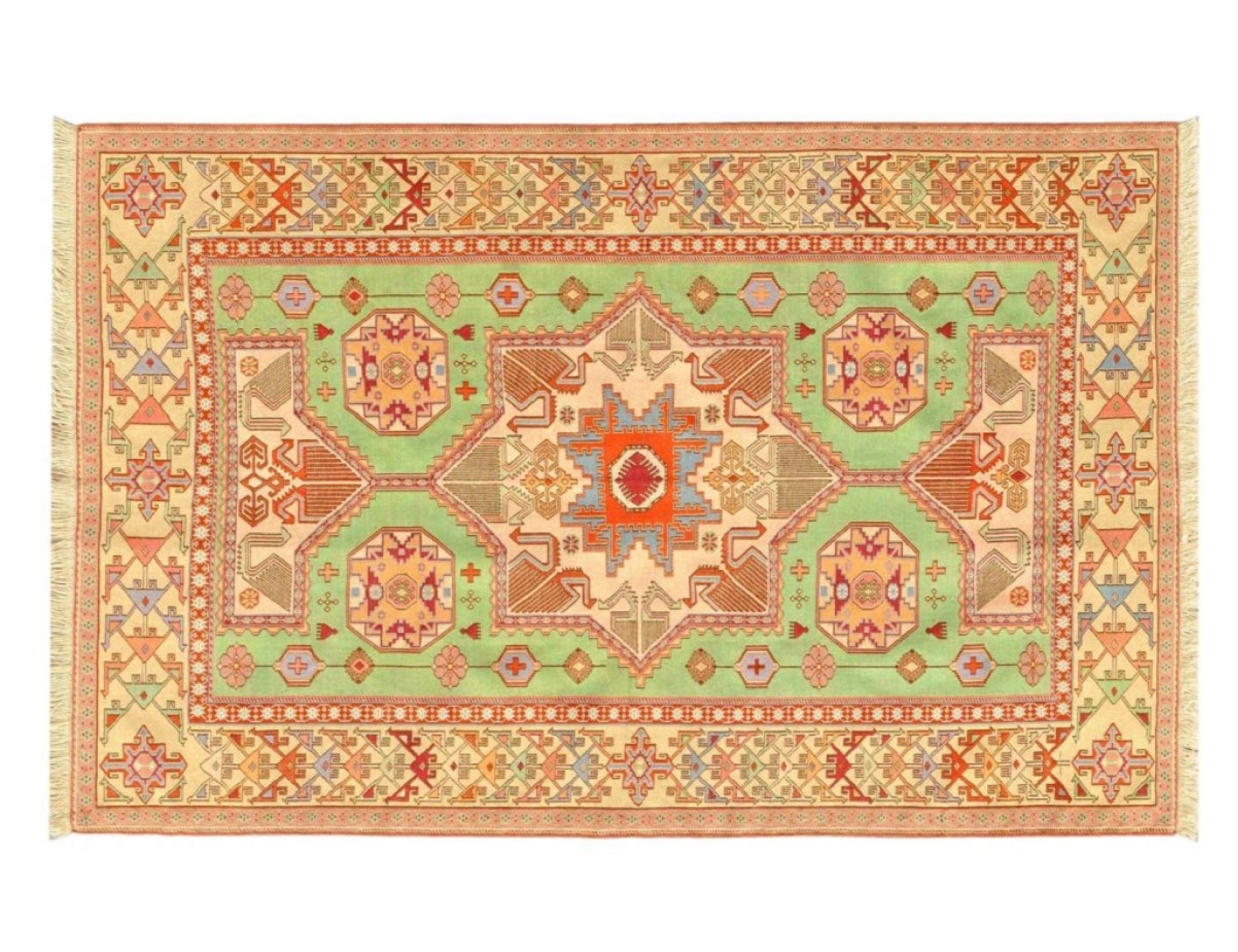 PERSIAN SILK KILIMS  gelb <br/>196 x 130 cm