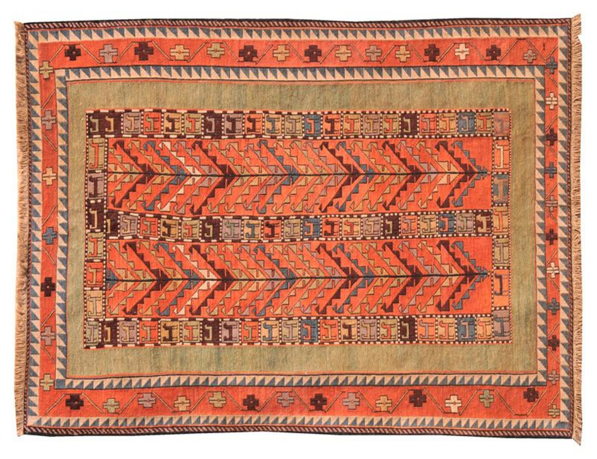 PERSIAN WOOL KILIMS   <br/>196 x 115 cm