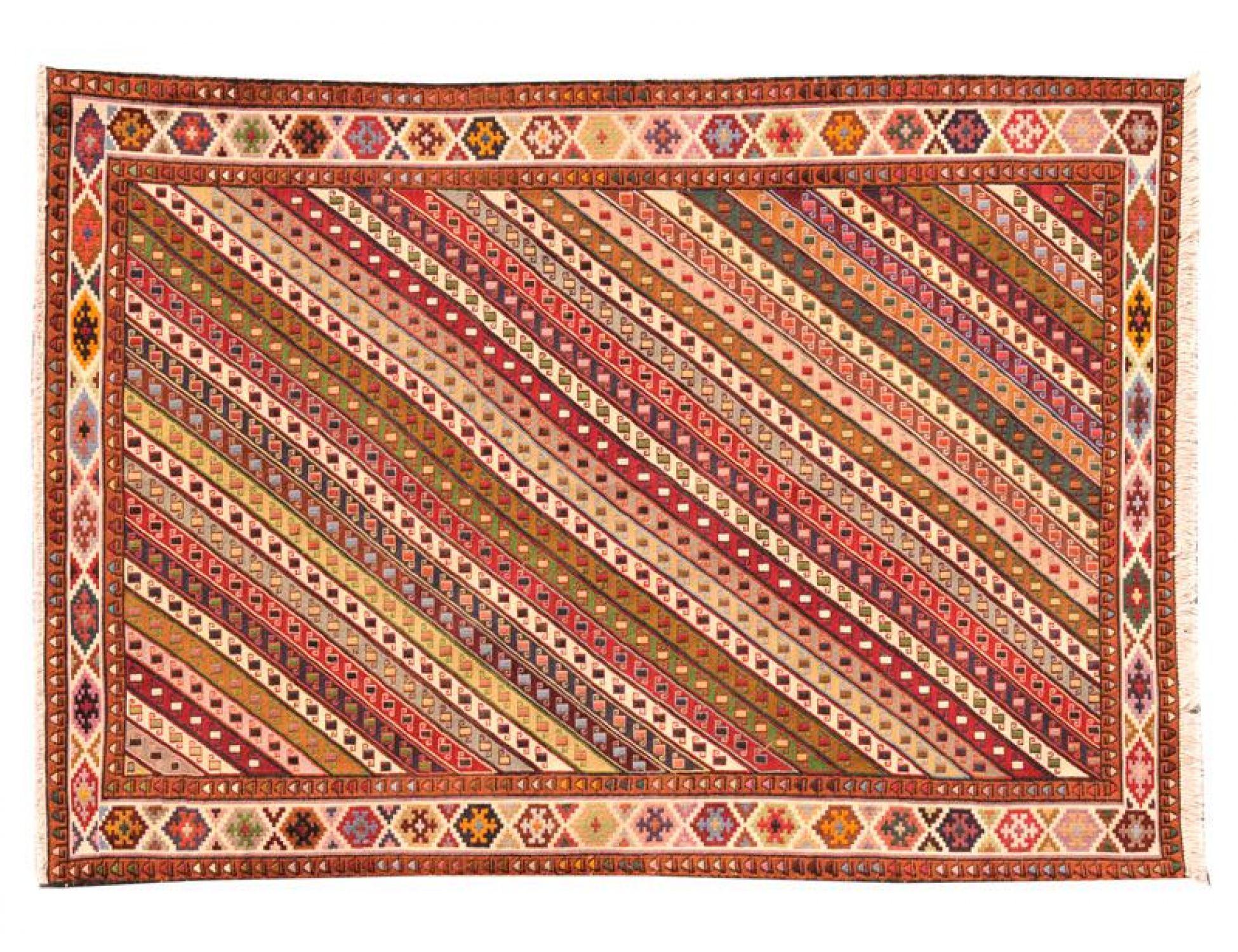 PERSIAN SILK KILIMS  mehrfarbig <br/>204 x 115 cm