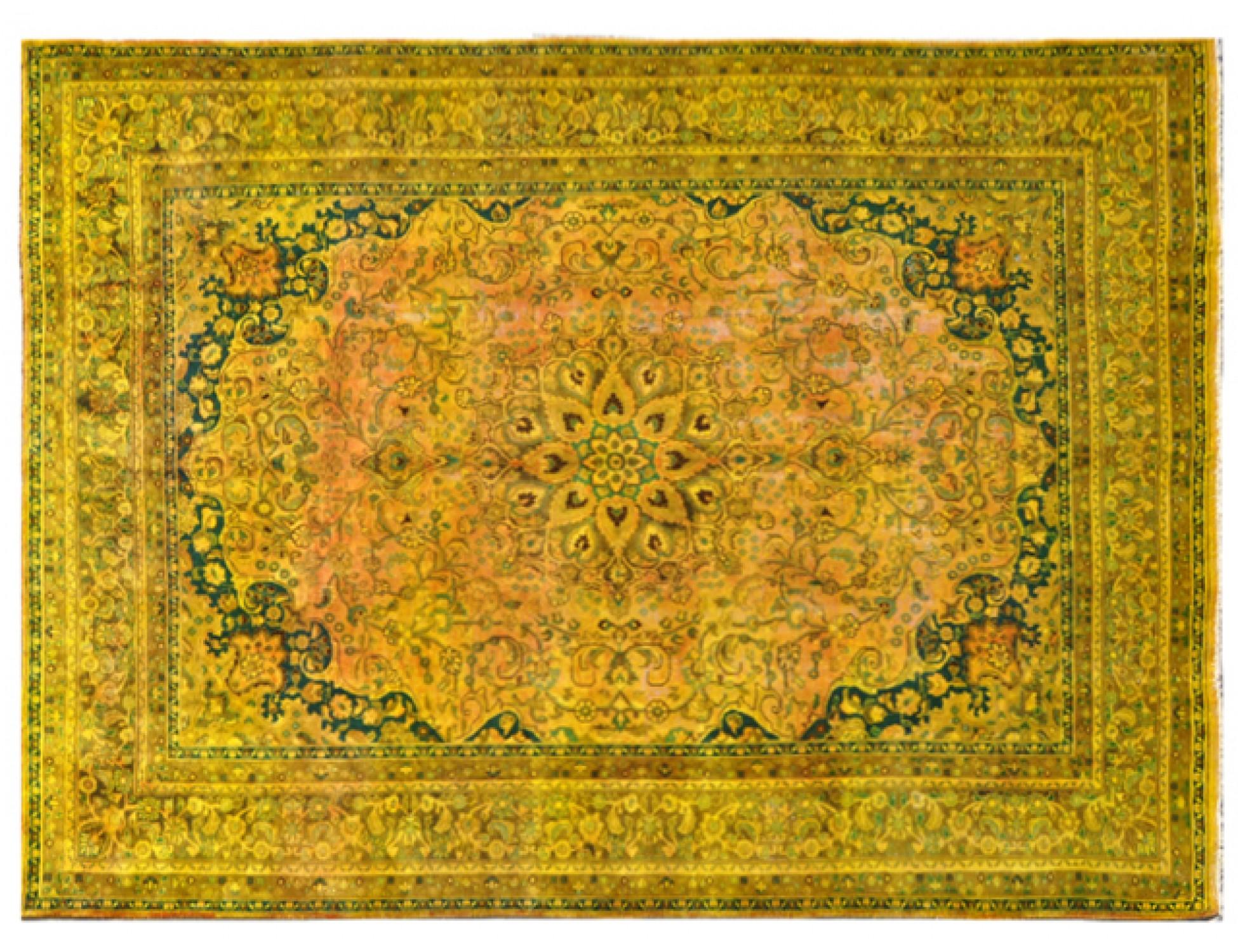 Vintage Teppich  gelb <br/>381 x 286 cm
